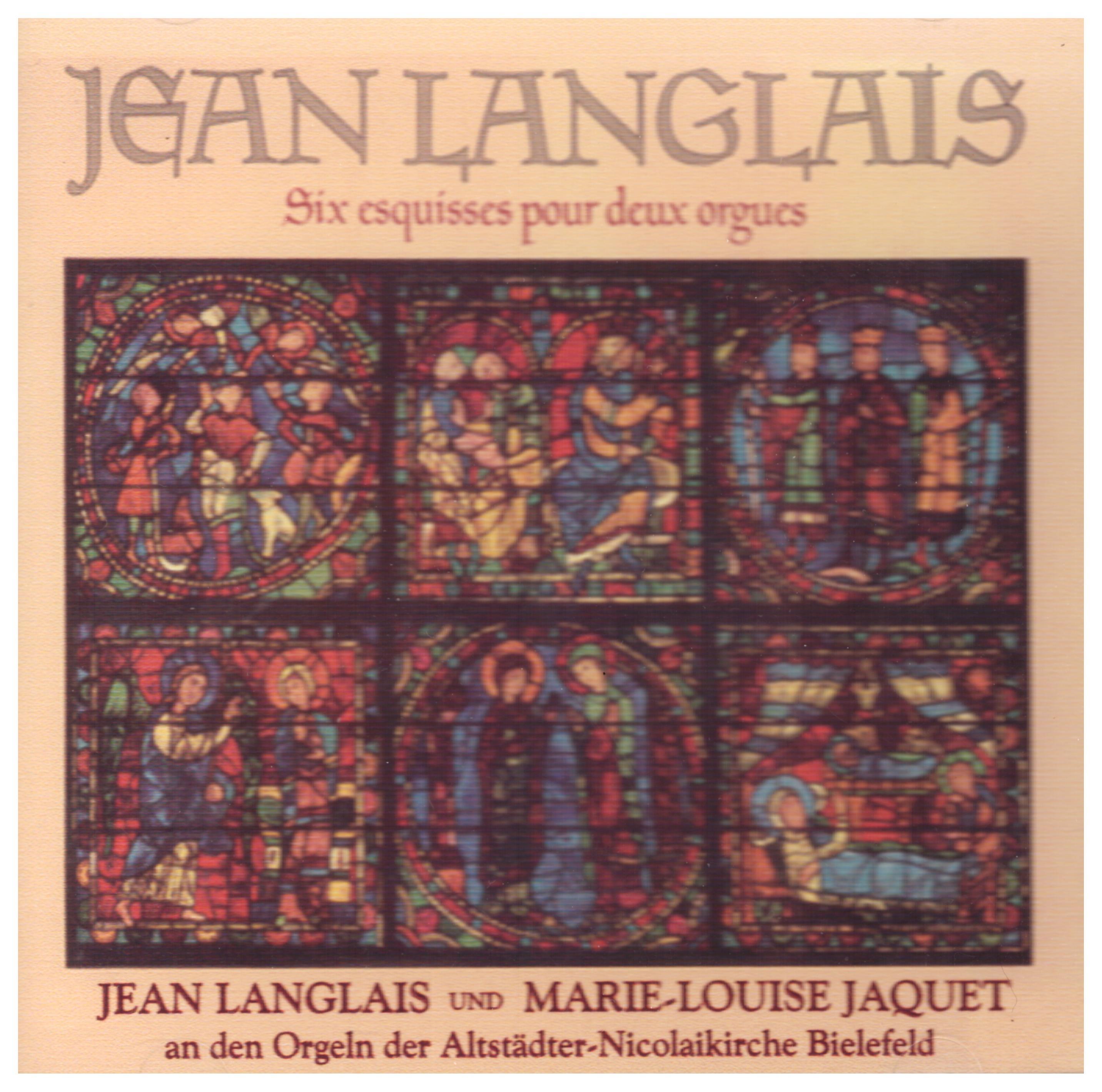 Jean Langlais:  Six Esquisses pour deux orgues